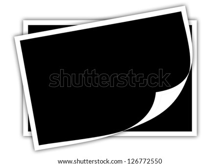 The photo frame isolated on white