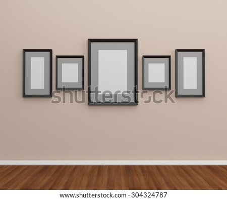 The Photo frames on the wall
