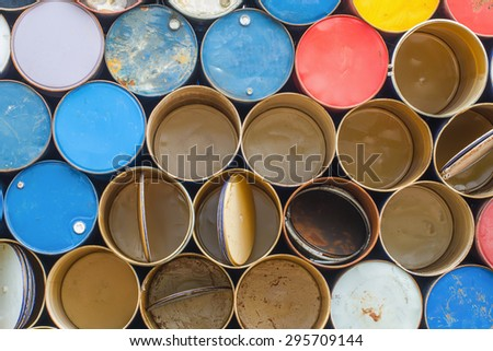 The Photo of Oil barrels background texture - stock photo