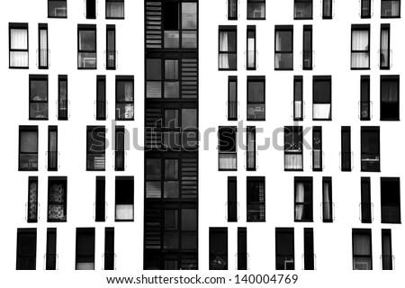 Window facade  Photograph Facade Symmetrically Arranged Windowswindow Facade ...