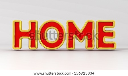 the phrase the house on a gray background red letters  - stock photo