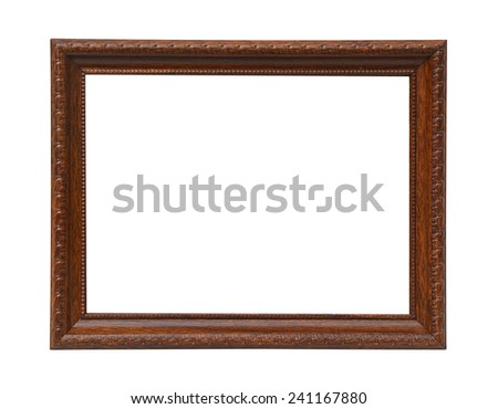 The picture frame. - stock photo