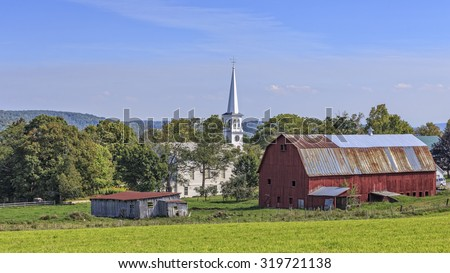 Beautiful Red Barn State Vermont Stock Shutterstock