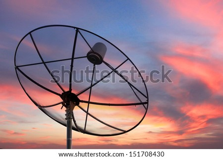 The Picture Satellite dish on Evening light.