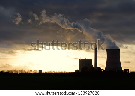 The picture shows a power plant. - stock photo