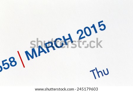 The Picture Text on calendar show in monthly of 2015.