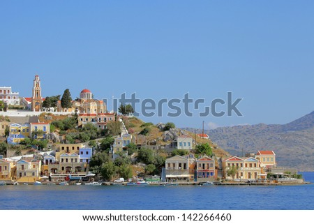 the picturesque island of Symi, Greece