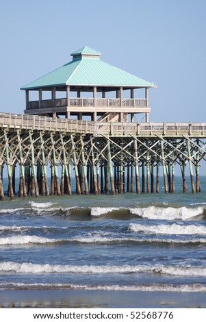 The pier at Folly Beach in Charleston, South Carolina.