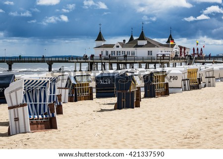 The pier in Ahlbeck on the island Usedom (Germany).