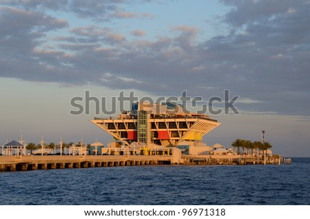 The Pier in St. Pete, Florida - stock photo