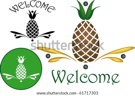 The pineapple is a widely recognized symbol of hospitality. - stock photo