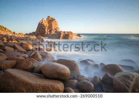 The Pinnacles at Phillip Island, Melbourne, Australia. - stock photo