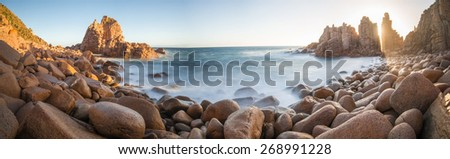 The Pinnacles at Phillip Island, Melbourne, Australia. Panorama view. - stock photo