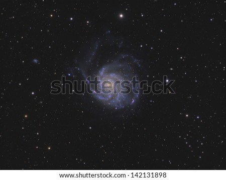 The Pinwheel Galaxy (Messier 101) - A face-on spiral galaxy about 20 million light years away in the constellation Ursa Major