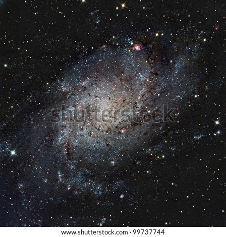 The Pinwheel or Triangulum Galaxy - stock photo