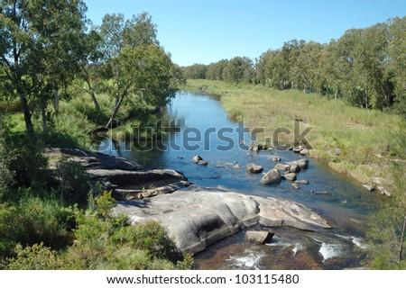 The Pioneer River at Finch Hatton, Queensland, Australia - stock photo