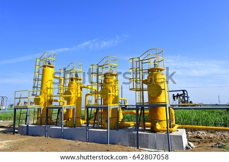 The pipe and valve oil fields