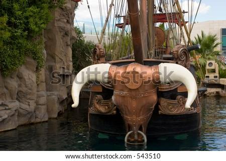 The Pirate Ship, Las Vegas USA - stock photo
