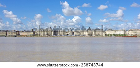 "The ""Place de la Bourse"" in Bordeaux - stock photo"