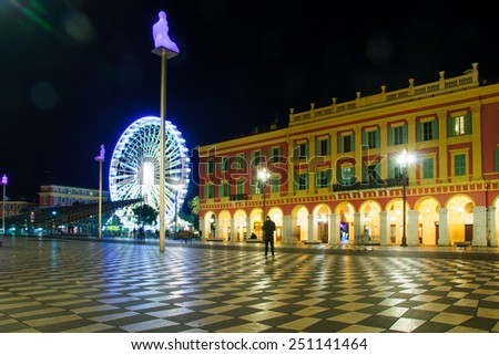 The Place Massena square in Nice, Provence-Alpes-Cote d'Azur, France - stock photo