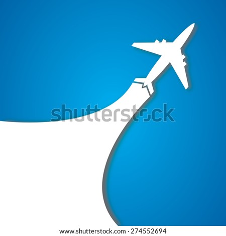 The plane - stock photo