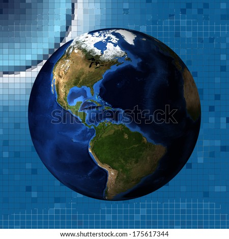 The planet earth (Elements of this image furnished by NASA) - stock photo