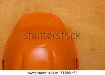 The plastic construction helmet for industrial use. - stock photo