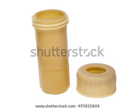 the plastic tube isolated on a white background