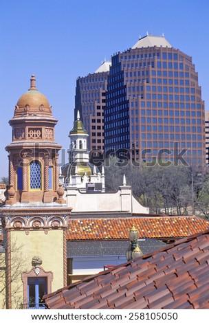 The Plaza, downtown Kansas City, MO - stock photo