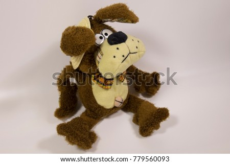 Plush Dog Straw Hat Symbol New Stock Photo Royalty Free 779560093