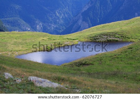 The pond on the Monte de Saxe - Courmayeur