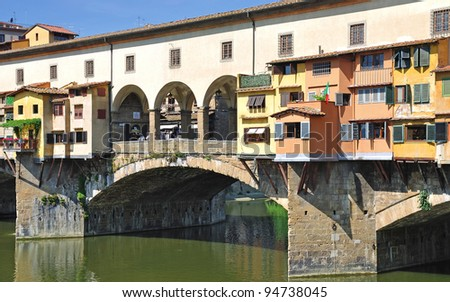 the Ponte Vecchio,Florence,Tuscany,Italy