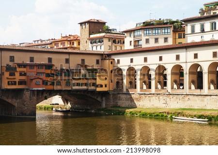 The Ponte Vecchio (Old Bridge) in Florence, Italy  - stock photo