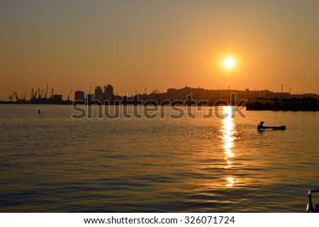 The Port of Durres, Albania on Sunset
