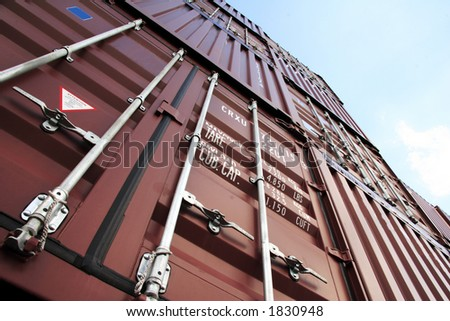 The port of Hamburg is the central hub for trade with Eastern and Northern Europe. - stock photo