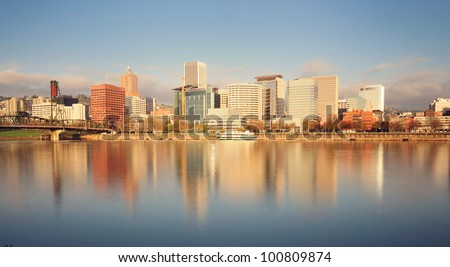 The Portland Skyline - stock photo