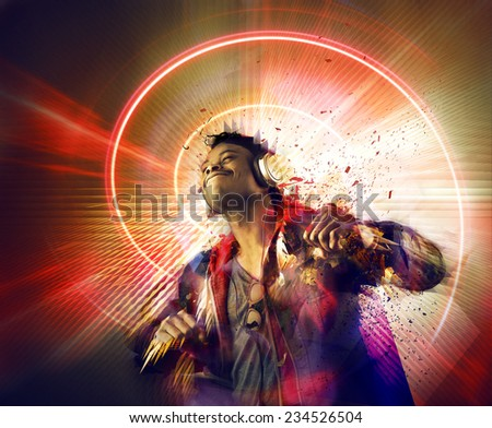 The power of music  - stock photo