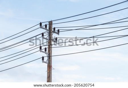 The power pole for decorate project. - stock photo