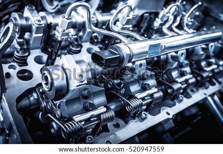 Powerful Engine Car Internal Design Engine Stock Photo
