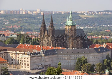The Prague Castle, the largest castle complex in the world.