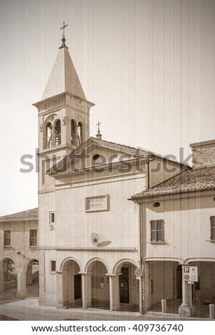 The present a provincial interior of Tuscany, Italy, Europe. Old style, sepia - stock photo