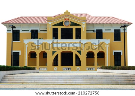 The preserved colonial construction in Macau city, China - stock photo