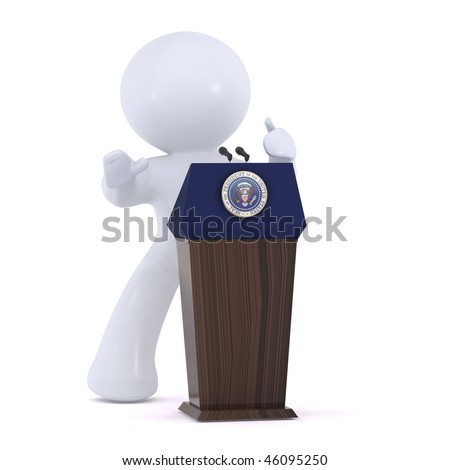 The presidential pedestal - stock photo
