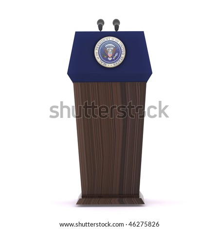 The presidential podium - stock photo