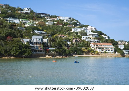 The pretty coastal resort of Knysna in South Africa - stock photo