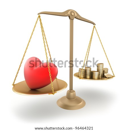The price of love. 3d concept - stock photo