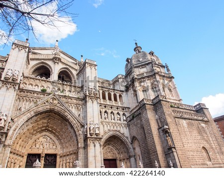 The Primate Cathedral of Saint Mary of Toledo, Spain - stock photo