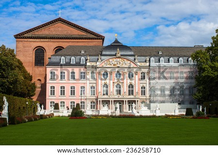 The prince electors palace and the roman basillica in Trier, Germany.
