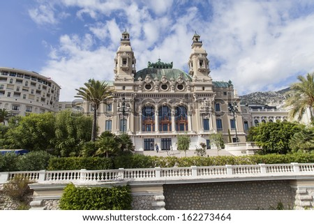 The Principality of Monaco, 13 October 2013 . Casino of Monte- Carlo