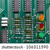 The printed circuit-board with led - stock photo